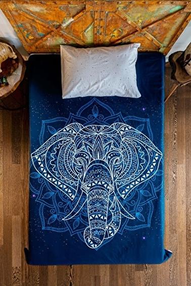 home-bath Tek Kişilik Nevresim Seti Elephant Renkli